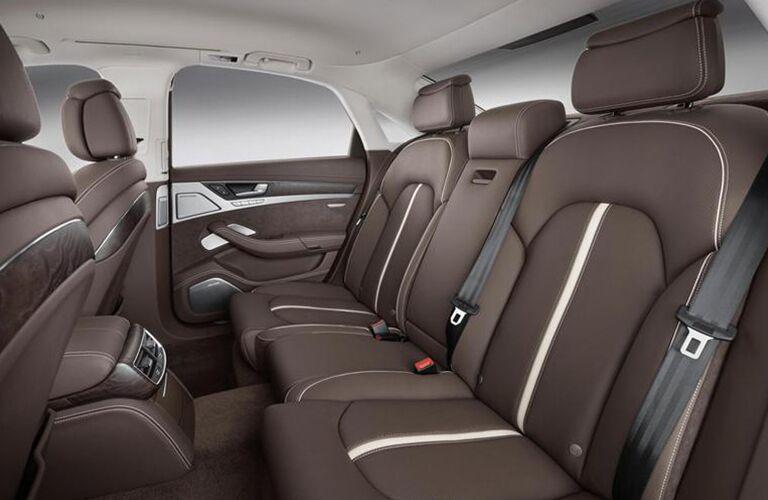 2015 Audi A8 interior back cabin seats