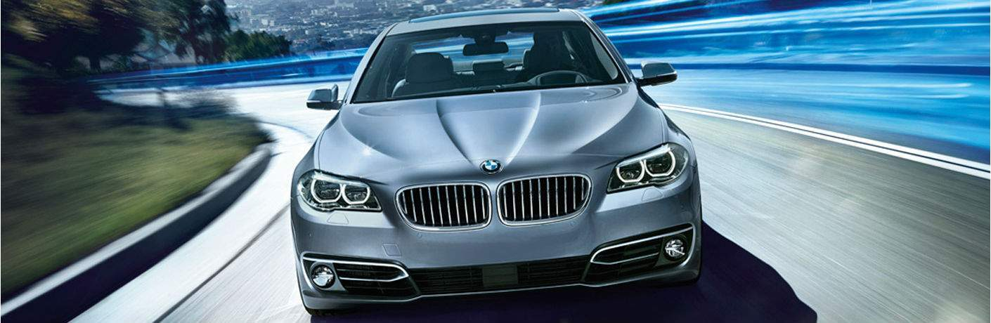 2015 BMW 5 Series exterior front fascia going fast on road