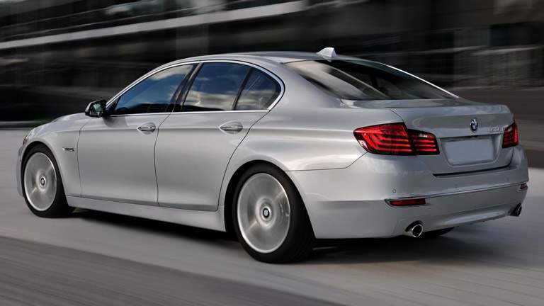 2015 BMW 5 Series exterior back fascia and drivers side