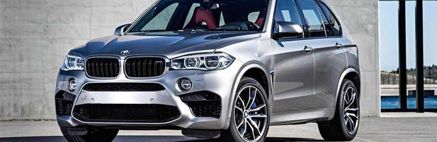 Close view of silver 2015 BMW X5