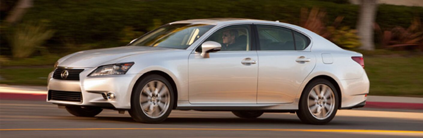 2015 Lexus GS 350 exterior front fascia and drivers side going fast on road