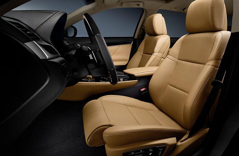 2015 Lexus GS 350 interior front cabin seats and steering wheel