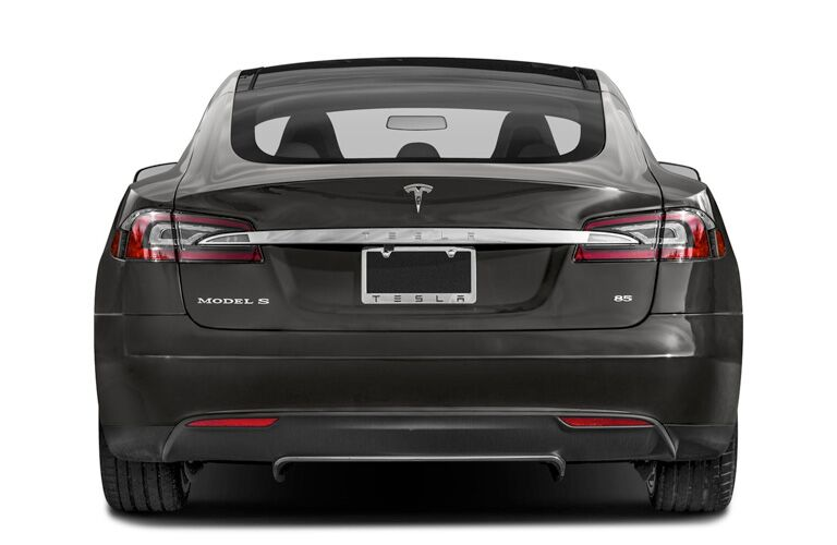 2015 Tesla Model S exterior back fascia