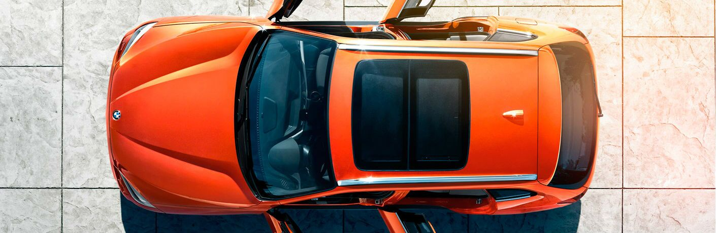 2015 BMW X1 exterior top view with all doors open