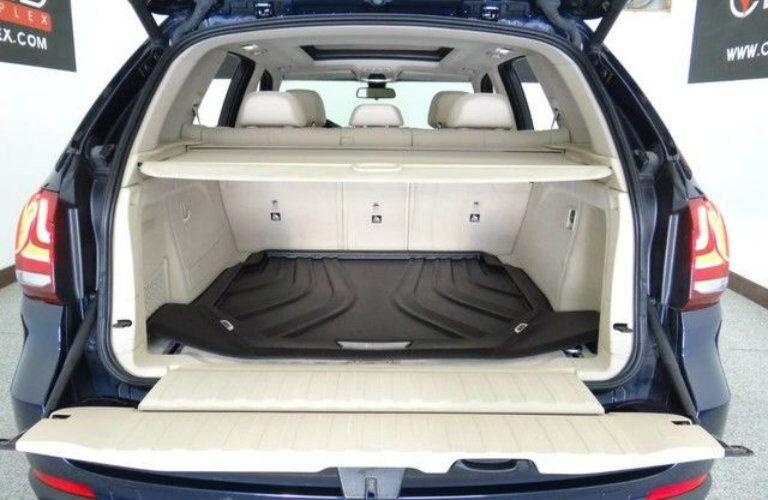 Rear cargo area of 2015 BMW X5