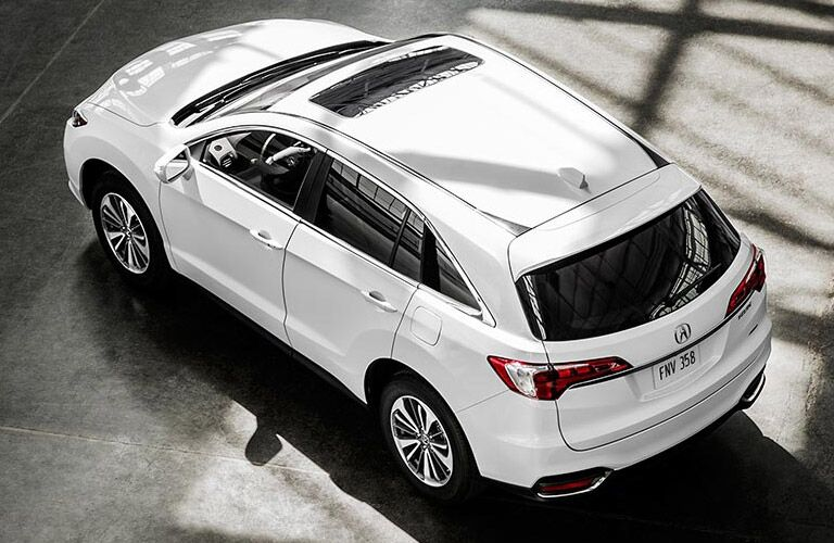 Used Acura overhead view