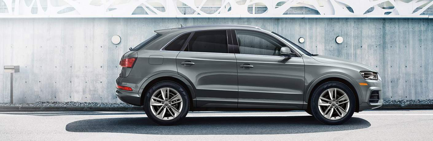 gray Audi Q3 side view