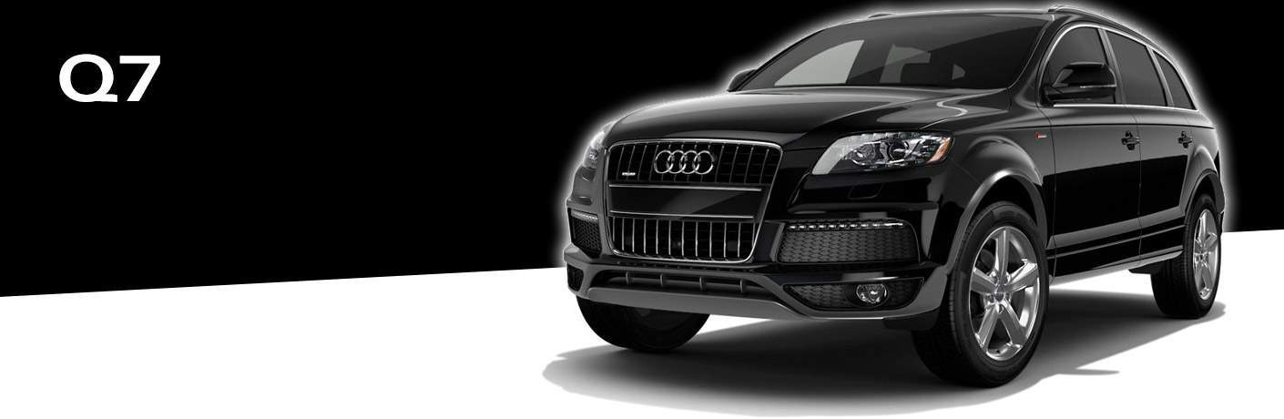 black Audi Q7 front side view