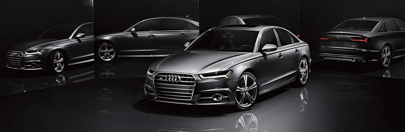 gray Audi S6 front side view