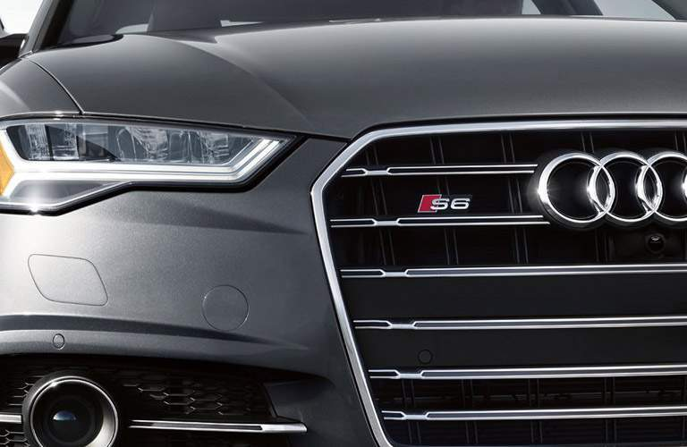 Audi S6 grille and passenger headlight