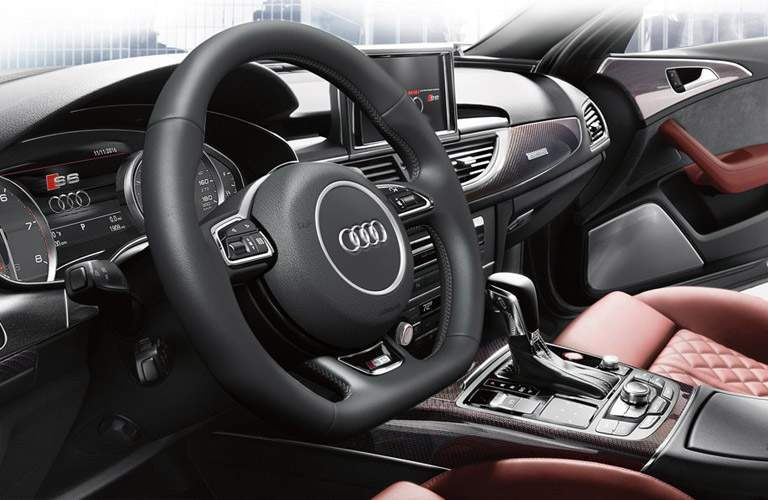 Audi S6 dashboard side view