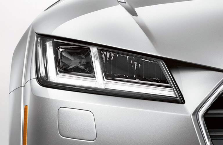 silver Audi TT headlight
