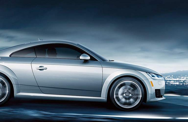 silver Audi TT side view