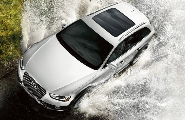 2016 Audi Allroad exterior top view going through water