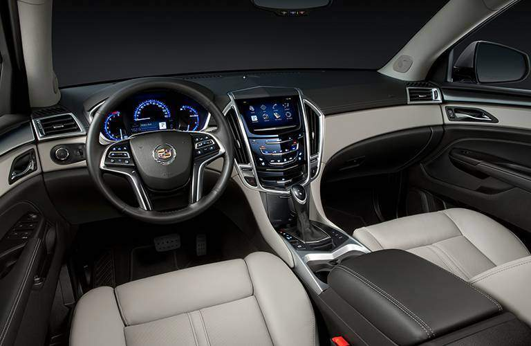 Cadillac SRX front seats and dashboard