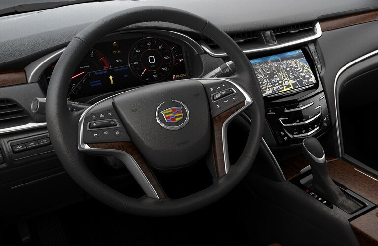 steering wheel of the 2017 Cadillac XTS