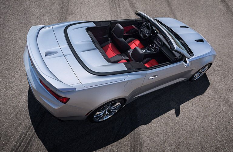Used Chevy Camaro Convertible overhead view
