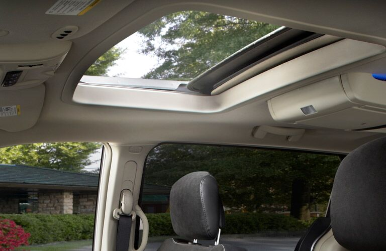 interior view of the 2016 Chrysler Town & Country with a beautiful sunroof