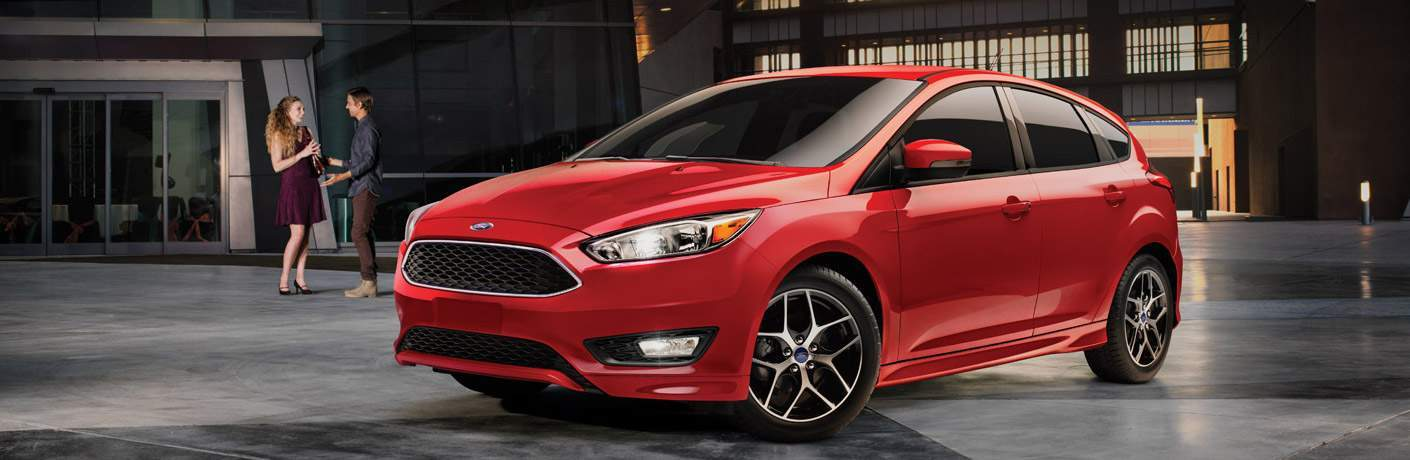 red 2016 Ford Focus front side exterior