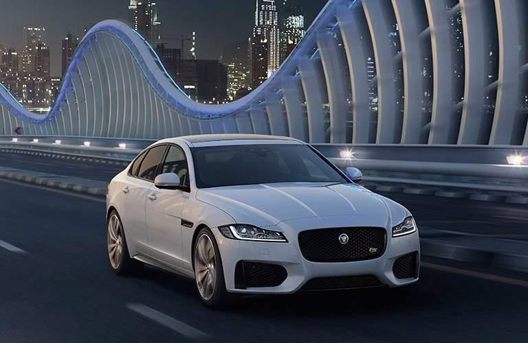 white Jaguar XF front view