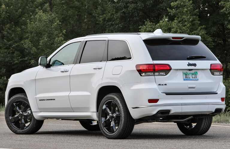 2016 Jeep Grand Cherokee exterior back fascia and drivers side