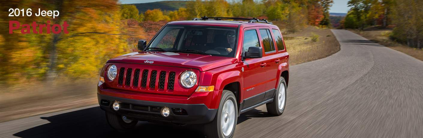red 2016 Jeep Patriot front side view