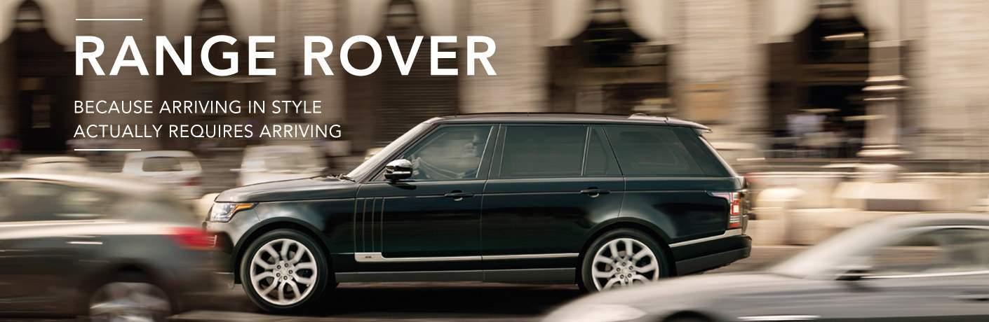 2016 Land Rover Range Rover Driving in Traffic on City Street with Range Rover Because Arriving in Style Actually Requires Arriving