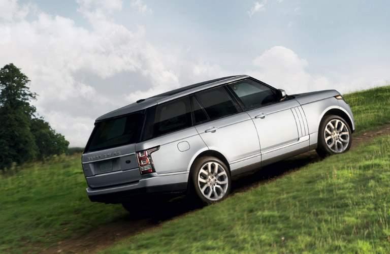 Silver 2016 Land Rover Range Rover Climbing Green Hill