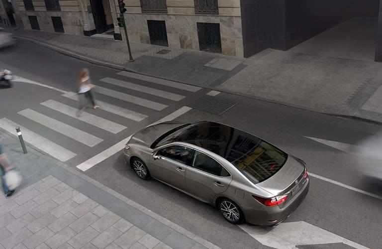 gray Lexus ES 350 overhead view