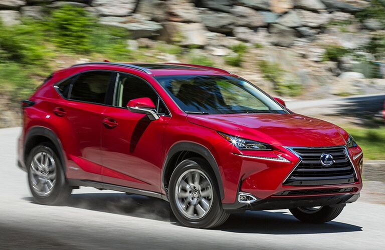 2016 Lexus NX 300h exterior front fascia and passenger side