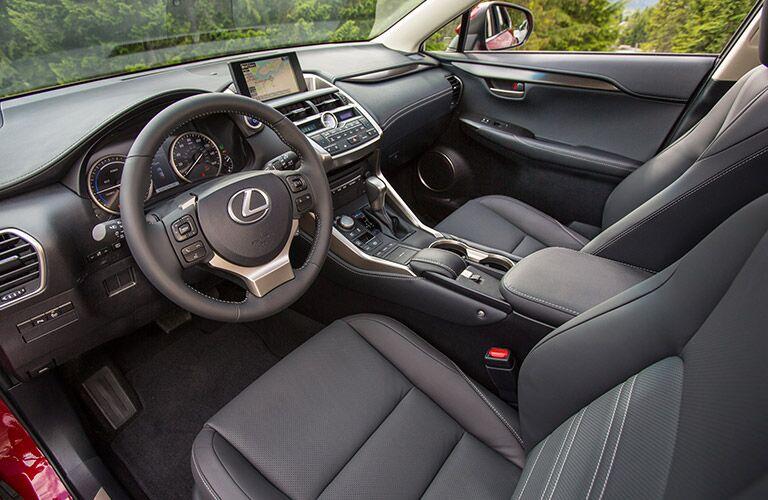 2016 Lexus NX 300h interior front cabin steering wheel and dashboard