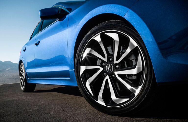 wheel close-up of a blue Acura ILX