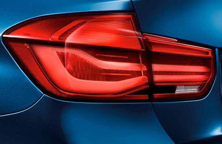 2017 BMW 3 Series exterior back fascia close up of drivers side taillight