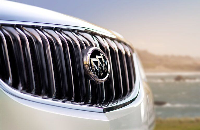 white Buick Enclave grille