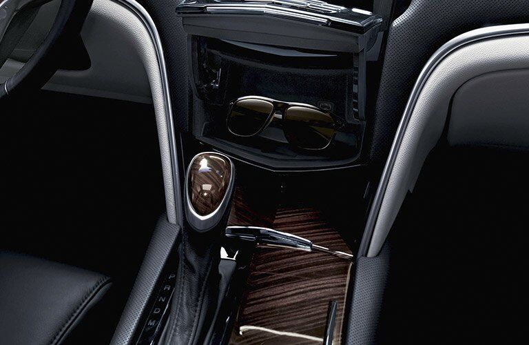 gear shift and center infotainment of the 2017 Cadillac XTS