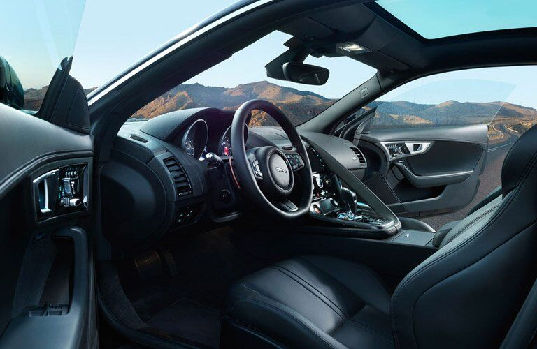 front seats of the 2017 Jaguar F-Type convertible