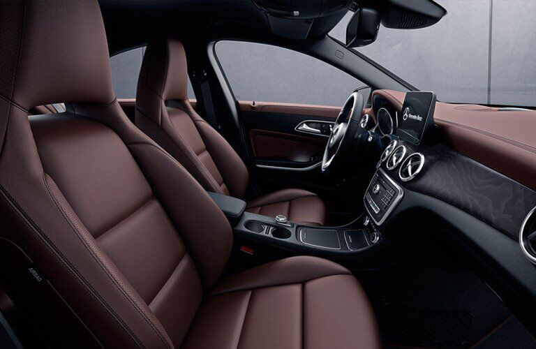 front seats of the 2017 Mercedes-Benz CLA250