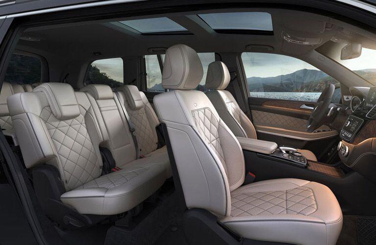 interior seating of mb gls