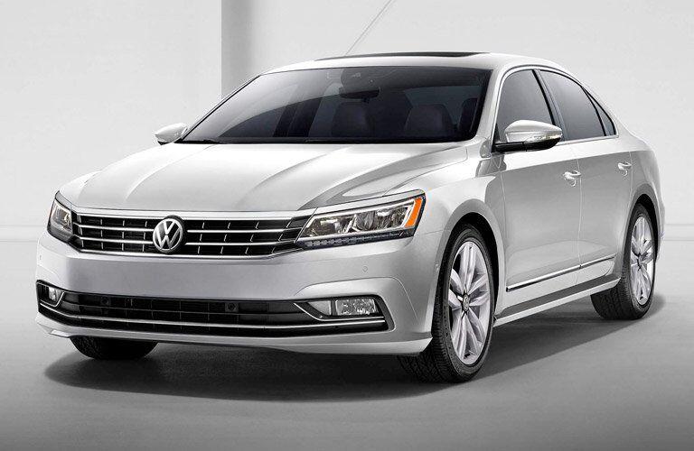 front view of a grey 2017 Volkswagen Passat