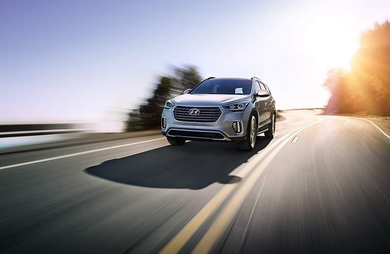 silver 2017 Hyundai Santa Fe front exterior