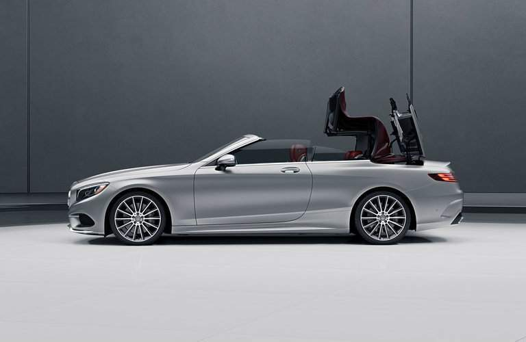 Silver 2017 Mercedes-Benz S-Class Convertible Lowering Convertible Top