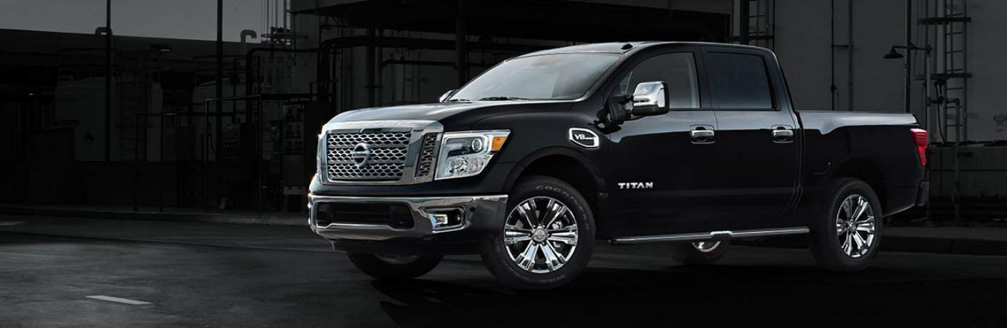black Nissan Titan side view