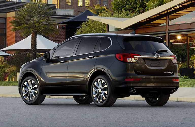 black Buick Envision back side view