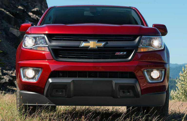 red 2017 Chevy Colorado front view