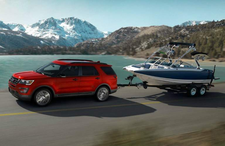 ford explorer towing boat