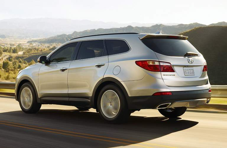 silver 2017 Hyundai Santa Fe side exterior