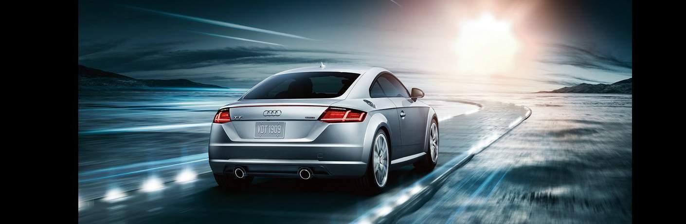 silver Audi TT back view