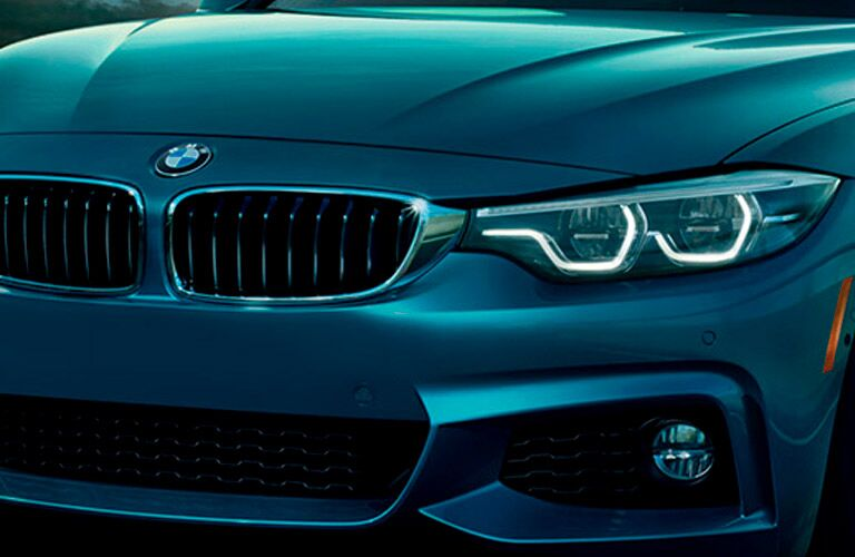 2018 BMW 4 Series exterior front fascia close up of drivers side headlight
