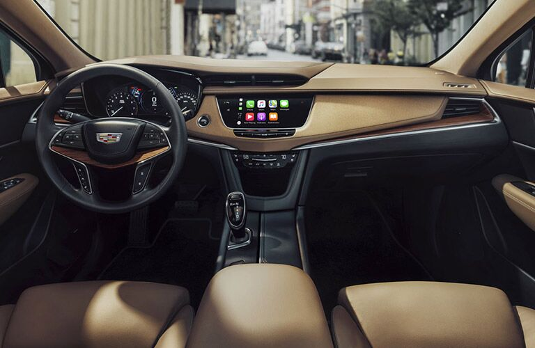 front seat of 2018 cadillac xt5