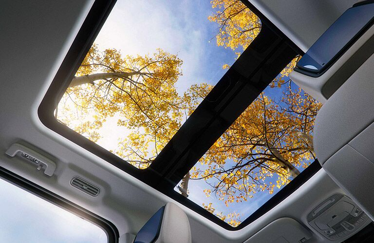 2018 Ford Expedition interior looking up at sunroof
